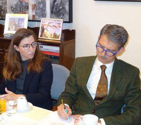 María Abascal y José Ignacio Salafranca