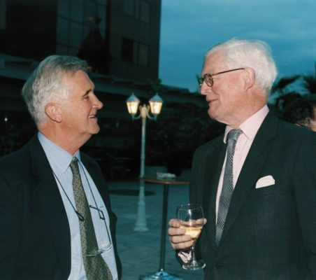 Tristan Garel-Jones y Douglas Hurd