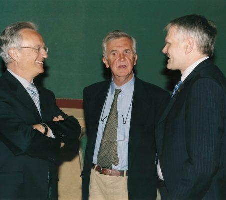 Ángel Durández, Tristan Garel-Jones y Georg Boomgaarden