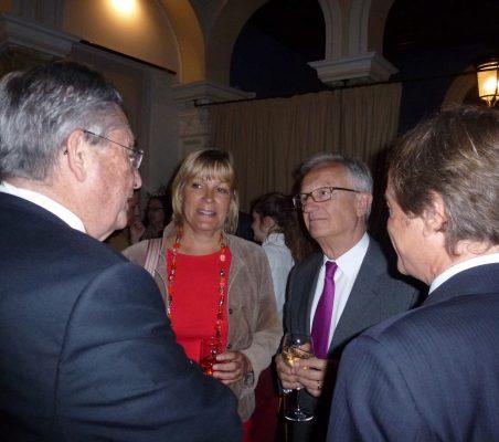 Juan Manuel Mártínez, Ceclia Julín, Ángel Durández y Adolfo Tamames