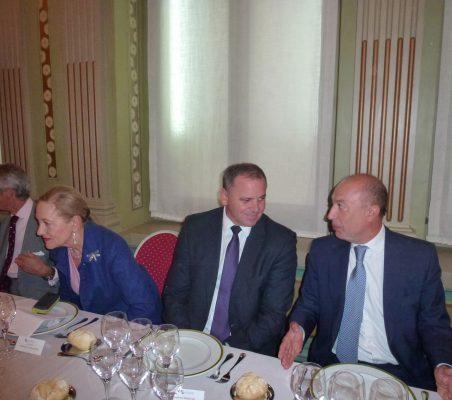 Francisco de Bergia, Benita Ferrero-Waldner, Embajador de Cuba y Francisco Celma