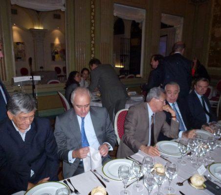 Embajador de Ecuador, Pablo Gómez e Olea, Norman García Paz y Valentín Diez Morodo