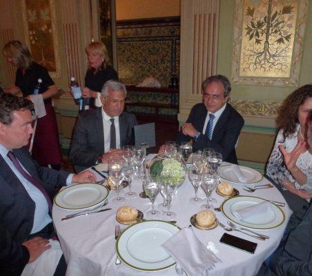 Óscar Díaz- Canel, Marcelo Risi y  Luis  Fernando Álvarez Gascón