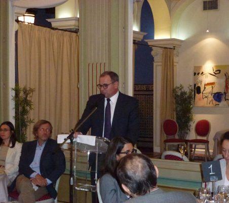 Embajador de Cuba durante su intervención