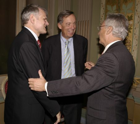 Embajador Georg Boomgaarden, Carsten Moser y Ángel Durández