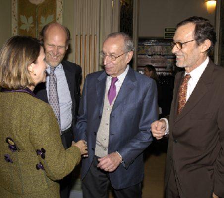 Asunción Valdés, Felipe Fernández Atela, Felipe Fernández Fariña y Emilio Cassinello