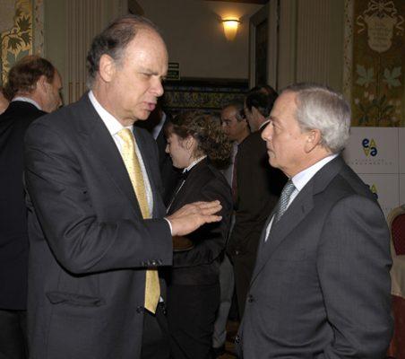 Enrique Krauze y Carlos Solchaga
