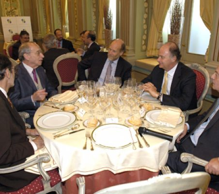 Emilio Cassinello, Felipe Fernández Fariña, Felipe Fernández Atela , Enrique Krauze y Carlos Solchaga