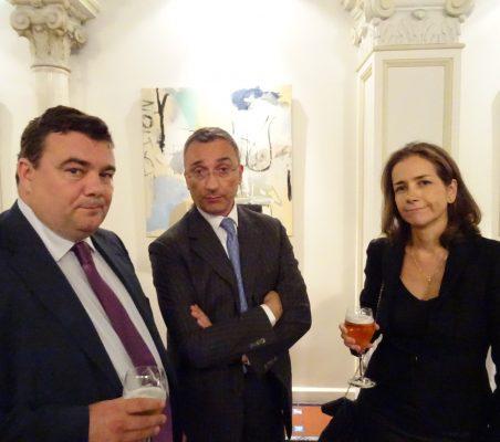 Óscar Díaz-Canel, Óscar Dávila y Patricia Alfayate