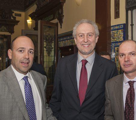 Fernando Carro, Carlos Romaní y Juan Llobel