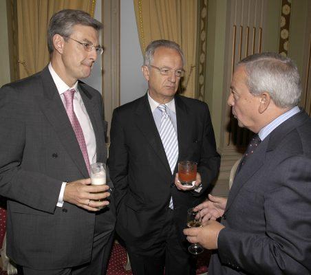 Fernando Ruiz, Ángel Durández y Carlos Solchaga