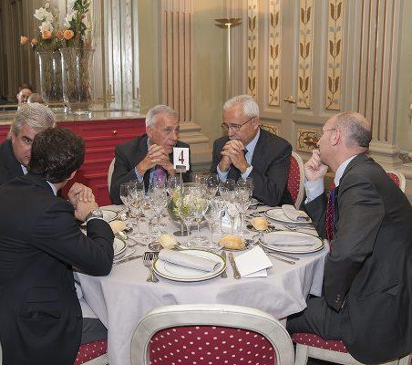 Gonzalo Babé, Antonio Gracia, José Eladio Seco y Fernando González