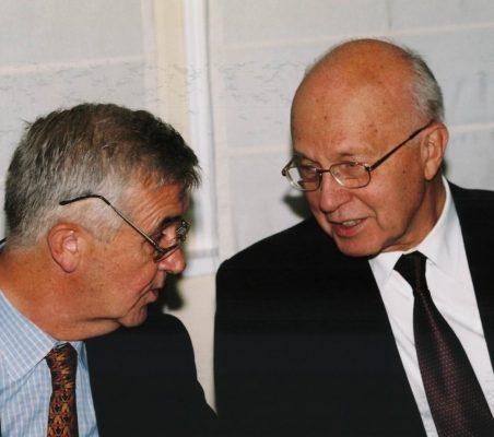 Tristan Garel – Jones y Helmut Schlesinger