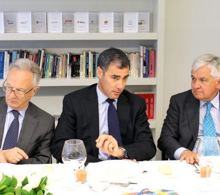 Ángel Durández, Samuel Urrutia y Avelino Acero