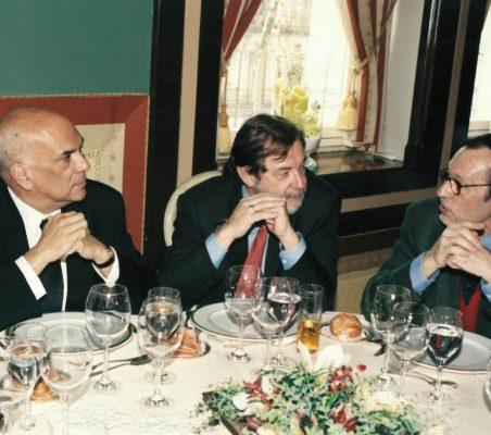 Jorge Alberto Lozoya, Juan Luis Cebrián y Emilio Cassinello