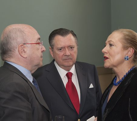Joaquín Almunia, Alfredo Sáenz y Benita Ferrero-Waldner