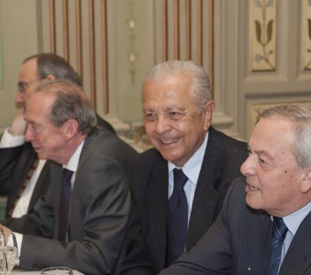 José Manuel Blecua, Sergio Romero Pizarro, Carlos Solchaga