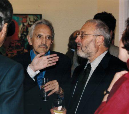 Eugenio Triana y Joseph Stiglitz