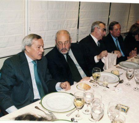 Carlos Solchaga, Joseph Stiglitz ,Theo Waigel , Carsten Moser