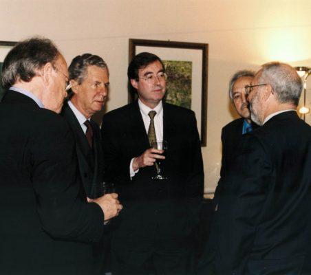 Javier Ramiro, Jaime Carvajal y Urquijo, Claudio Aranzadi y  Joseph Stiglitz