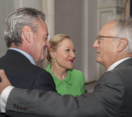Juan Socías, Benita Ferrero- Waldner y Ángel Durández