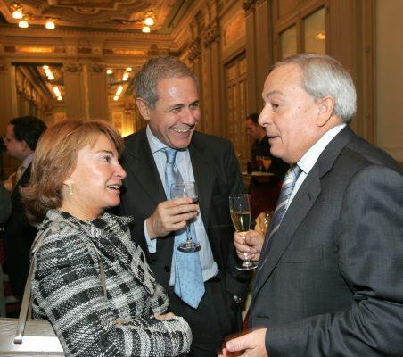 Luisa Peña, Ramón Reyes y Carlos Solchaga