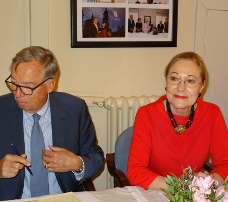 Carsten Moser y Benita Ferrero-Waldner