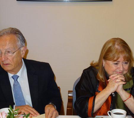 Ángel Durández y Susana Malcorra