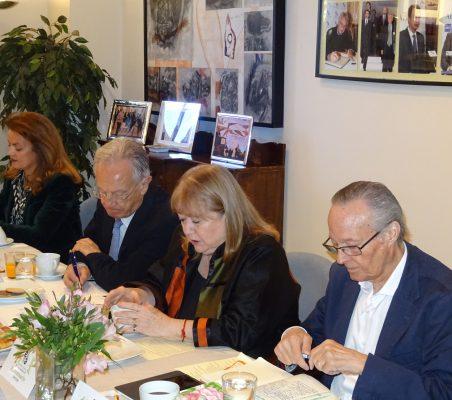 Renata Dutra, Ángel Durández, Susana Malcorra y Josep Piqué