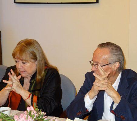 Susana Malcorra y Josep Piqué