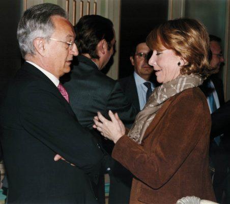 Ángel Durández y Esperanza Aguirre