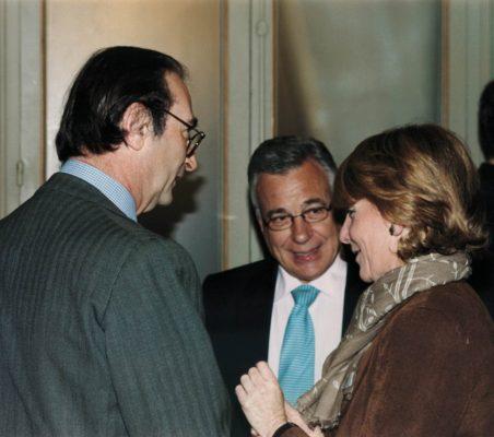 Emilio Lamo de Espinosa  , Antonio Gracia y Esperanza Aguirre