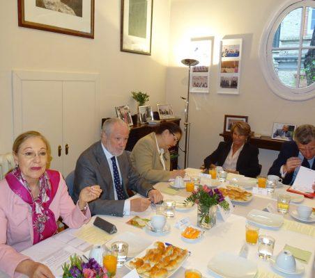 Benita Ferrero-Waldner, J. L. López-Schümmer, Berta Fuertes, Luisa Peña y Claudio Vallejo
