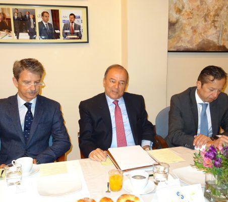 José Ignacio Salafranca, Embajador  Claudio de la Puente y David Tuesta