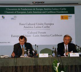 Rafael Guardans, Director de FUNDESO, y Ángel Durández, Director General de la Fundación Euroamérica