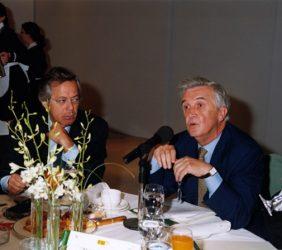 Ramón Aguirre, Presidente del ICO, y Tristan Garel-Jones, Presidente de la Fundación Euroamérica