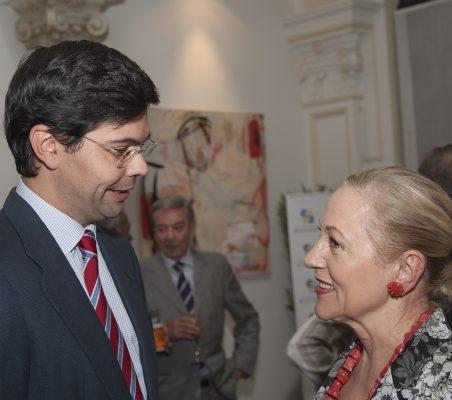 Ricardo Díez-Hochleitner y Benita Ferrero-Waldner