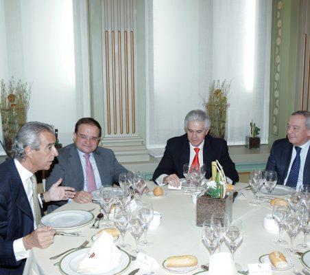 Francisco de Bergia, Carlos Ávarez, Francisco Ros y Carlos Solchaga