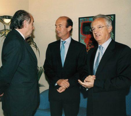 Miguel Vergara , Miguel Iraburu y Ángel Durández