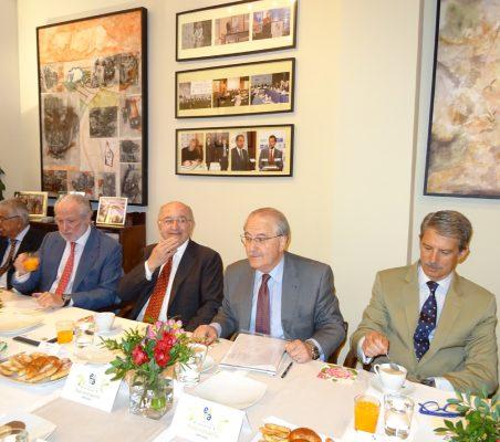 Fernando Labrada, José Luis López-Schümmer, Joaquín Almunia, Francisco Fonseca y José Ignacio Salafranca