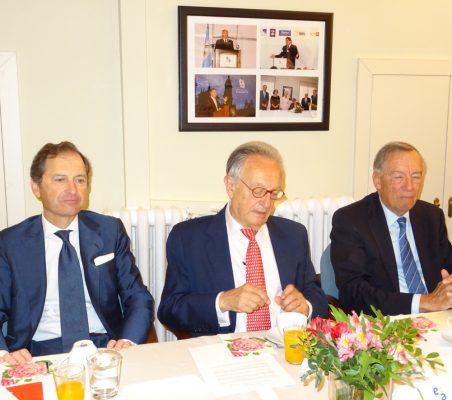Borja Baselga, Ángel Durández y Carsten Moser