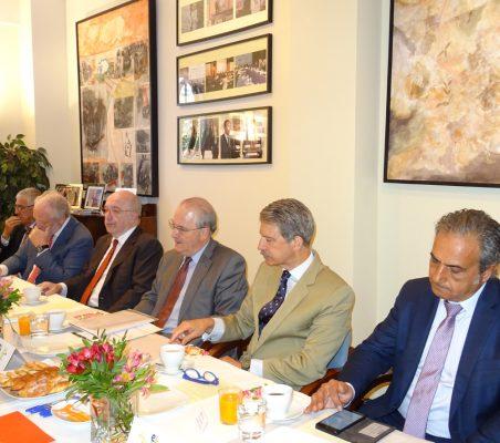 Fernando Labrada, José Luis López-Schümmer, Joaquín Almunia, Francisco Fonseca, José Ignacio Salafranca y Luis Fernando Álvarez-Gascón