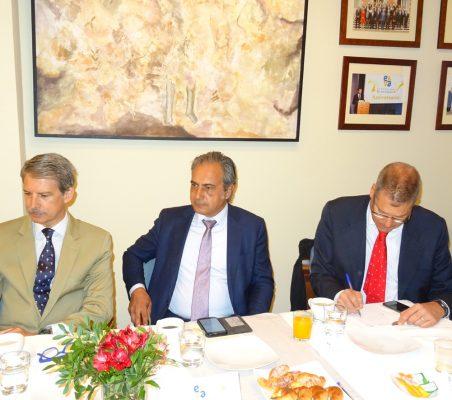 José Ignacio Salafranca, Luis Fernando Álvarez-Gascón y Daniel García Urosa