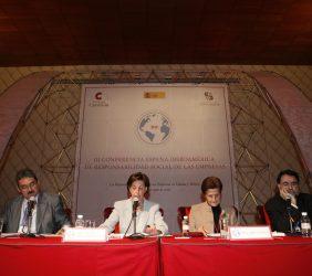 Juan José Barrera, Leonor Ortíz Monasterio, Adela Cortina, Josep Mª Lozano (2)