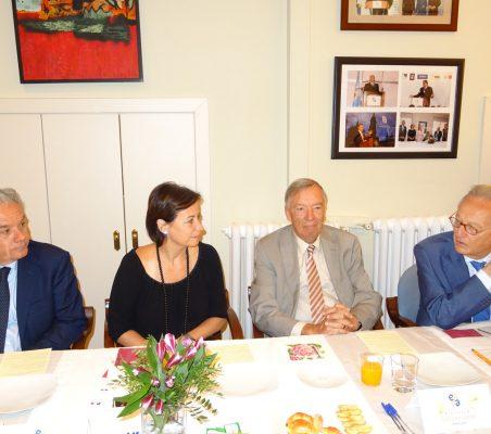 Jesús Prieto, Geraldine Filippi, Carsten Moser y Ángel Durández
