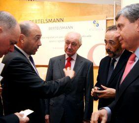 Juan Llobell, Fernando Carro, Emilio Gilolmo, Carlos López Blanco y José Luis García Delgado
