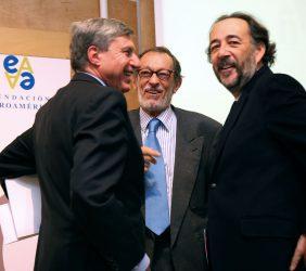 José Luis García Delgado, Emilio Cassinello y Carlos López Blanco