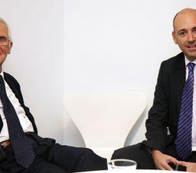 Tristan Garel-Jones, Presidente de Honor de la Fundación Euroamérica, y Fernando Carro, Presidente de Bertelsmann en España y América Latina