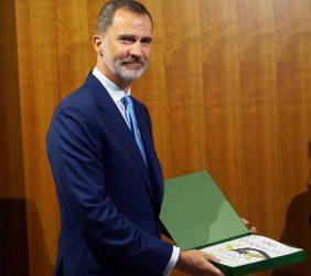 S.M. el Rey recibe el Libro conmemorativo de la Fundación Euroamérica