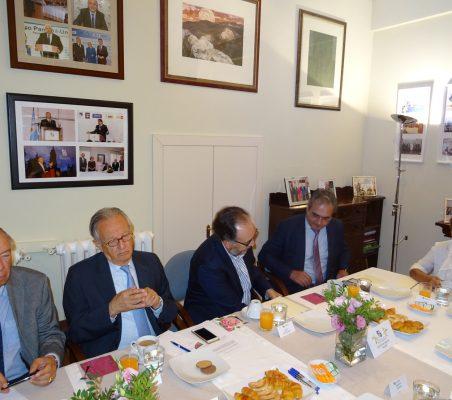 Carsten Moser, Ángel Durández, Carlos López Blanco, Luis Fernando Álvarez-Gascón y Luisa Peña